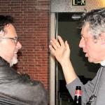 Rico Lins  y  Mario Piazza,  jurados bid_est no dejaron de conversar y comentar proyectos.