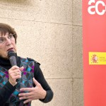 Presentación  del programa ACERCA/ AECID a cargo de Clara Ballesteros.