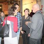 María Luisa Walliser, de la Univ. Rey Juan Carlos y coordinadora del Foro I+D+I+D junto a Ignacio Valero y alumnos que participaron en el Workshop para el diseño expositivo de la bid_est.