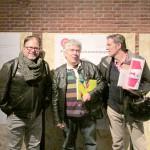 Rico Lins, Brasil,  diseñador, jurado bid_ est; Fernando Martínez Agustoni, Universidad  de la República / Uruguay y miembro del comité científico de la BID, y    , y Pedro Feduchi, presidente de la DIMAD.