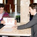 Rafael Vivanco y Sandra Tineo, de la USIL, Universidad San Ignacio de Loyola. Lima, Perú, junto a Lluis Mozos, de ELISAVA, Barcelona en su cita del Speed Dating