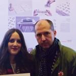 Roberto Campos, profesor de la Universidad Francisco de Vitoria, junto a Sandra Vilar Segovia, premiada.
