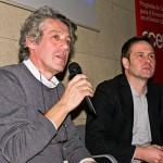 Mario Piazza, jurado bid_est , dando su conferencia. Moderó  Dario Assante, IED / Madrid, España.